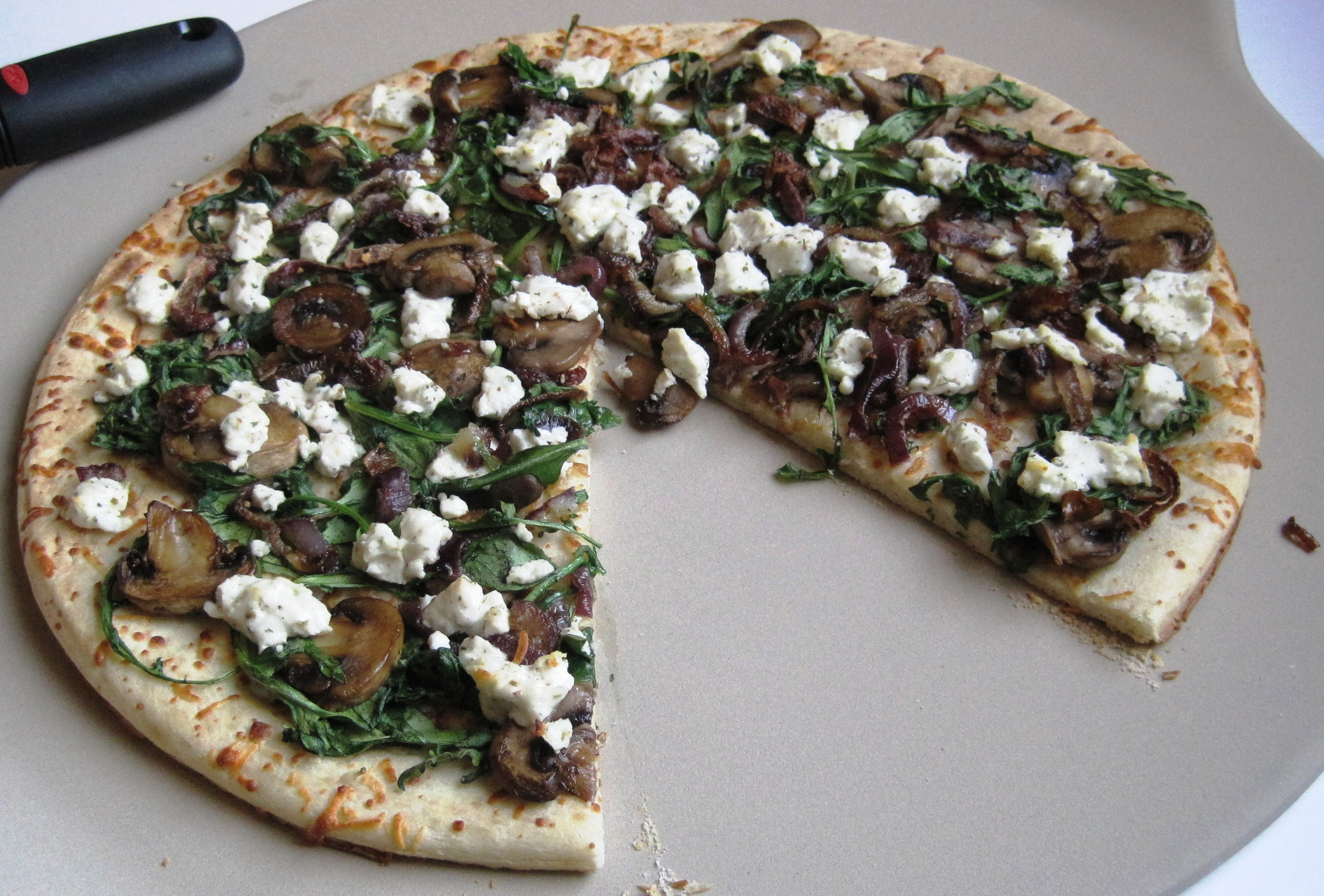 Onion, Goat Cheese Pizza » Goat Cheese Pizza piece missing